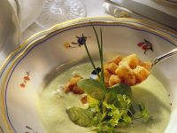 Herb Soup with Croutons recipe