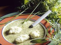 Herb Soup with Snow Balls recipe
