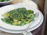 Herbed Cod with Avocado Salad recipe
