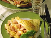 Herbed Crepes with Ham and Gruyère recipe
