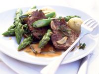 Herbed Steak with Green Asparagus and New Potatoes recipe