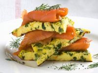 Herby Egg and Fish Stack recipe