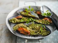 Herby Moules with Breadcrumbs recipe