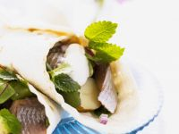 Herring and Mixed Green Wraps recipe