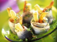 Herring Rolls Filled with Peppers and Cheese recipe
