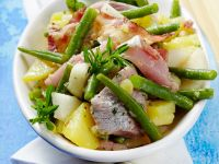 Herring Salad with Beans, Pears and Bacon recipe