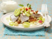 Herring Salad with Creamy Dressing, Leeks and Apples recipe