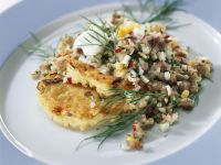 Herring Tartare on Potato Pancakes recipe