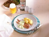Herring with Apple-onion Sauce and Bacon-potatoes recipe
