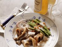 Herring with Bacon and Beans recipe