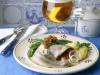 Herring with Bacon, Green Beans and Caraway Potatoes recipe
