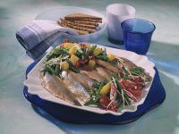 Herring with Radicchio Salad and Horseradish Dressing recipe