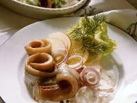 Home-style Pickled Herring with Onion, Apple, and Dill recipe
