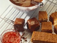 Glazed Cake Squares recipe