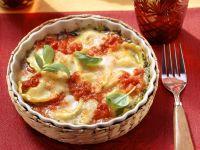 Homemade Ravioli Au Gratin recipe
