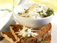 Homemade Rye Bread with Savory Cress Spread recipe