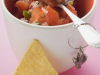 Homemade Salsa Dip with Tortilla Chips recipe