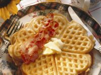 Homemade Waffles with Crispy Bacon recipe