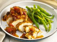 Honey-Glazed Chicken Breasts with Green Beans recipe