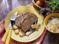 Honey Glazed Spiced Meatloaf with Apricot recipe