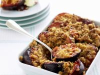 Honey Nut Plum Crumble recipe