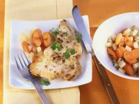 Horseradish Turkey Cutlets with Vegetables recipe
