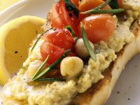 Hummus and Cherry Tomatoes on Toast recipe