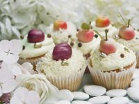 Iced Cakes with Fruit Toppers recipe