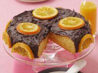 Iced Citrus and Choc Gateau recipe