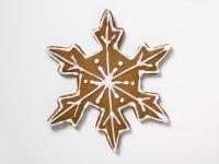 Iced Gingerbread Snowflake Cookies recipe