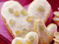 Iced Lemon Heart Cookies recipe