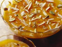 Indian Almond and Saffron Pudding recipe