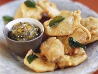 Indian Appetizer Bites with Dipping Sauce recipe