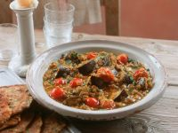 Indian Lentil Stew with Eggplant recipe