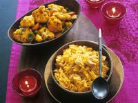 Indian Pilau Rice with Veggie Curry recipe