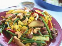 Indian-style Rice with Cashews and Beans recipe
