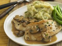 Indian Style Chicken with Mashed Potatoes and Mushroom Sauce recipe