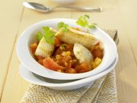 Indian-Style Curry with Halibut