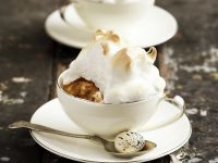 Individual Bread and Butter Meringue Puddings recipe