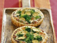 Individual Broccoli and Courgette Tarts recipe