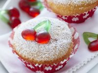 Individual Cakes with Gummy Fruit recipe
