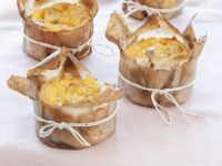 Individual Goat Cheese Quiches recipe