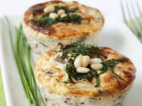 Individual Mushroom and Pine Nut Tarts recipe