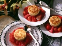 Individual Rice Puddings with Strawberry-Rhubarb Compote recipe
