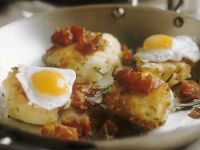 Individual Rosti with Bacon and Quail Eggs recipe