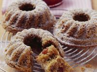 Individual Spiced Cranberry Nut Bundt Cakes recipe