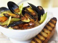 Italian Mixed Bean and Shellfish Broth recipe