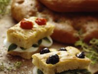 Italian Olive Bread Sandwiches recipe