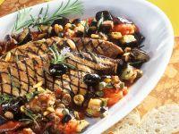 Italian-style Liver with Eggplant recipe