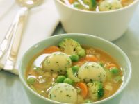 Pasta Soup with Dumplings recipe